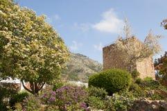 Posto di guardia arabo a Mijas su Costa Del Sol Andalucia, Spagna Immagine Stock