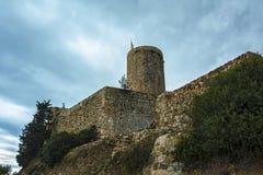 Posto di guardia della fortezza di San Juan Blanes, Spagna Fotografie Stock Libere da Diritti