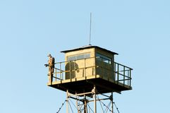 Posto di guardia della guardia di frontiera Fotografia Stock