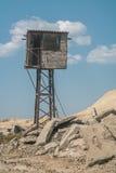 Posto di guardia di legno Fotografia Stock Libera da Diritti