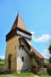 Posto di guardia di una chiesa fortificata medievale Immagini Stock