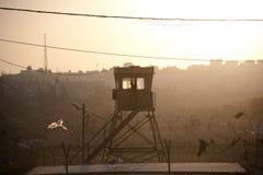 Posto di guardia militare israeliano Immagine Stock Libera da Diritti