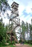Posto di guardia nella foresta Fotografie Stock
