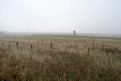 Posto di guardia nella nebbia Fotografia Stock