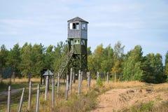 Posto di guardia sopra la zona severa Giorno di settembre La Russia Fotografie Stock