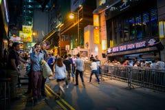 Posto di Hong Kong Famous Nightlife - Lan Kwai Fong Immagine Stock