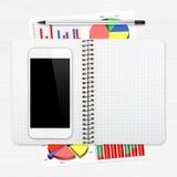 Posto di lavoro con il ridurre in pani digitale Fotografie Stock