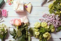Posto di lavoro del fiorista Fotografie Stock