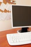 Posto di lavoro dell'ufficio (video del calcolatore) Immagine Stock