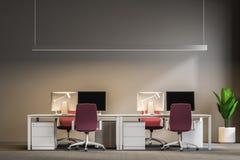 Posto di lavoro grigio dell'ufficio open space royalty illustrazione gratis