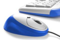 Posto di lavoro. mouse e tastiera fotografia stock