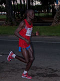 Posto di maratona di Honolulu terzo Immagine Stock Libera da Diritti