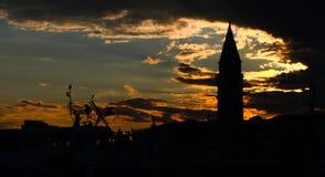 Posto di marco di San al tramonto Fotografia Stock Libera da Diritti