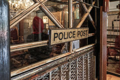 Posto di polizia in National Gallery Singapore, punto di riferimento iconico fotografie stock libere da diritti