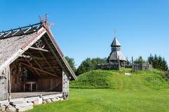 Posto di resto e torre di legno dell'allerta Immagini Stock Libere da Diritti