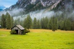 Posto di resto nelle alpi delle dolomia, Italia Fotografie Stock