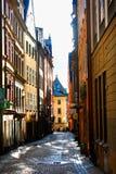Posto di Stortorget in Gamla stan, Stoccolma Fotografia Stock Libera da Diritti