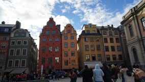Posto di Stortorget in Gamla stan, Stoccolma Fotografie Stock