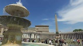 Posto e fontana di Città del Vaticano archivi video