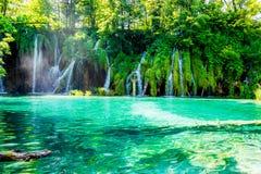 Posto idilliaco nel parco nazionale in Croazia Immagine Stock