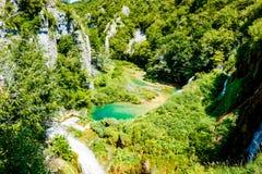 Posto idilliaco nel parco nazionale in Croazia Fotografia Stock