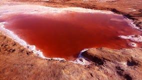 Posto insolito di Sahara Desert dell'acqua del lago rosa di rosa bello nel deserto dello zucchero Immagine Stock