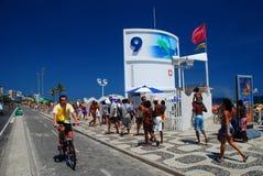Posto 9 Ipanema Rio de Janeiro, Brasile Fotografie Stock