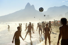 Posto Nove Ipanema Beach Football Rio Altinho Royalty Free Stock Photo