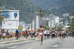 Posto Nove Ipanema Beach Rio Summer Crowd Royalty Free Stock Image