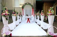 Posto per cerimonia di cerimonia nuziale. Fotografia Stock