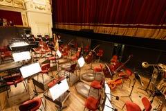 Posto per l'orchestra all'opera Immagini Stock