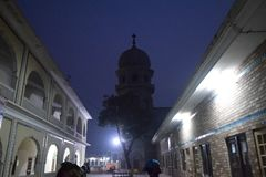 Posto religioso sikh di Gurdwara Fotografie Stock