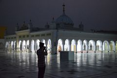 Posto religioso sikh di Gurdwara Fotografia Stock