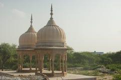 Posto sacro con bella architettura, India, Mathura 2 Fotografia Stock
