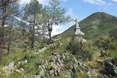 Posto sacro dello stupa buddista fotografia stock
