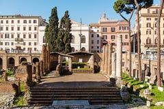 Posto sacro di Largo di Torre Argentina in vecchia città di Roma Immagini Stock