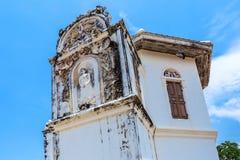 Posto storico, Wat Ubosatharam Il tempio alloggia molti manufatti quali i murali della parete che rappresentano lo stile di Ratta immagini stock