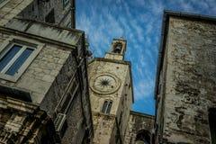 Posto stupefacente nella vecchia città nella spaccatura, Croazia fotografia stock libera da diritti