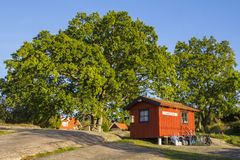 Postoffice and library on the island Harstena Sweden Royalty Free Stock Photos