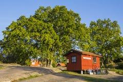 Postoffice och arkiv på ön Harstena Sverige Royaltyfria Foton