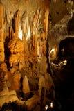 Postojna cave. Stalactites and stalagmites in Postojna cave Stock Photos