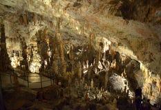 Postojna cave tour route Royalty Free Stock Photography