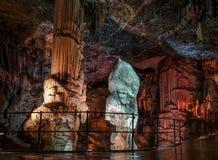 Postojna grotta, en av de bästa turismplatserna i Slovenien Royaltyfri Fotografi