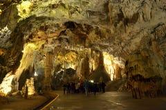 Postojna grotta Slovenien Fotografering för Bildbyråer