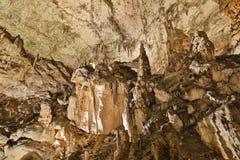 Postojna-Höhle, Slowenien Bildungen innerhalb der Höhle mit Stalaktiten stockfoto