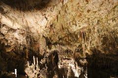 Postojna-Höhle, Slowenien Bildungen innerhalb der Höhle mit Stalaktiten stockfotos