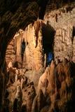 Postojna-Höhle, Slowenien Bildungen innerhalb der Höhle mit Stalaktiten und Stalagmiten Lizenzfreies Stockfoto