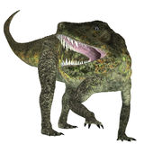 Postosuchus Triassic Reptile. Postosuchus was a cousin of crocodiles and lived as a carnivore in North America during the Triassic Era Stock Images