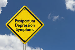 Postpartum Depression Symptoms Warning Sign Stock Images