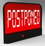 Postponed Clock Means Delayed Until Later Time Royalty Free Stock Photo